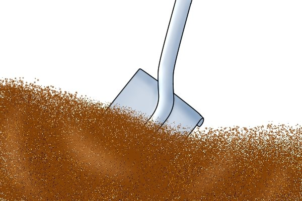 A shovel is used to dig or shift and move loose material such as earth and snow, for example.