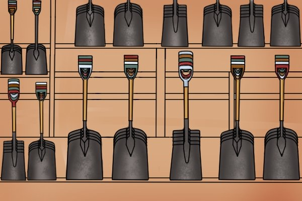 There is a wide range of shovels to choose from