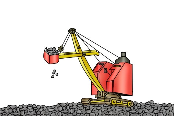 A steam shovel is the earliest type of excavator