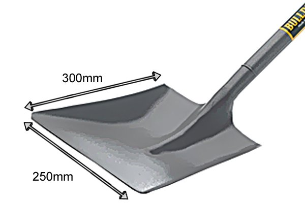The height of the blade is given followed by the width of the blade at its widest point