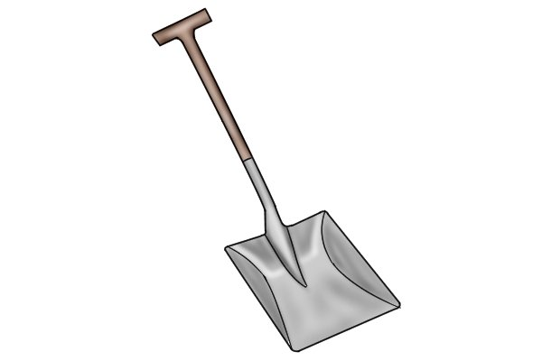 A grain shovel is used for granular materials such as grain, seeds and fertiliser
