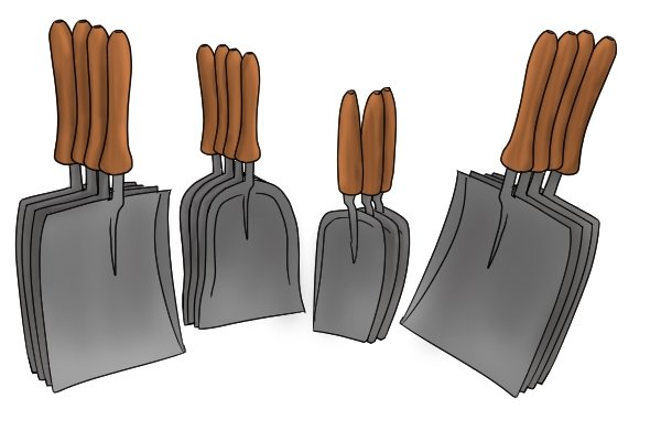 A coal shovel is used for shovelling coal and removing ash from a fireplace, firebox or furnace.
