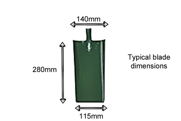 Cable laying blade dimensions