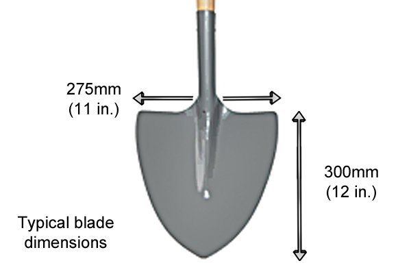 The blade is flat and wide with a V-shaped point at its cutting edge