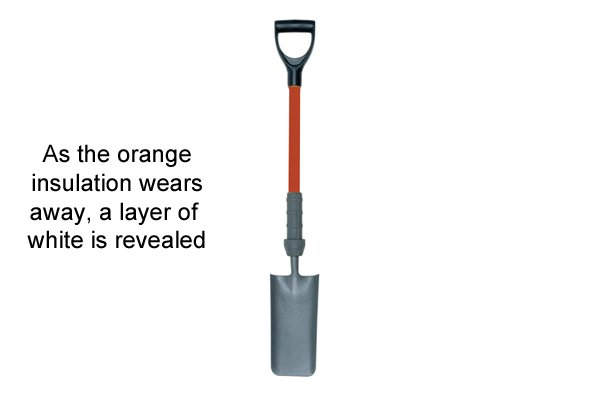 When the white is revealed, dispose of the tool or use as an ordinary shovel