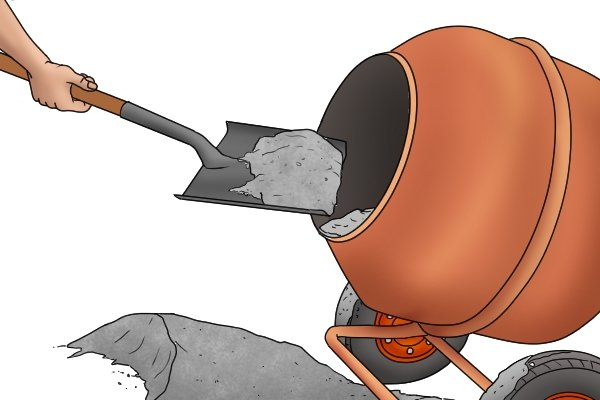 A steel shovel is ideal for heavy duty shovelling such as cement mixing