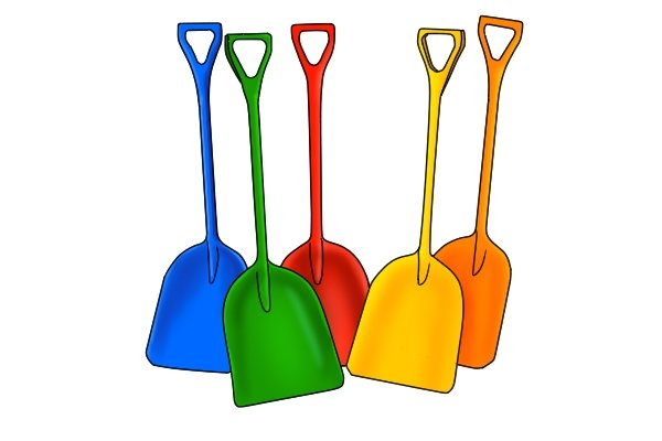 A plastic shovel is at the low end of the price range
