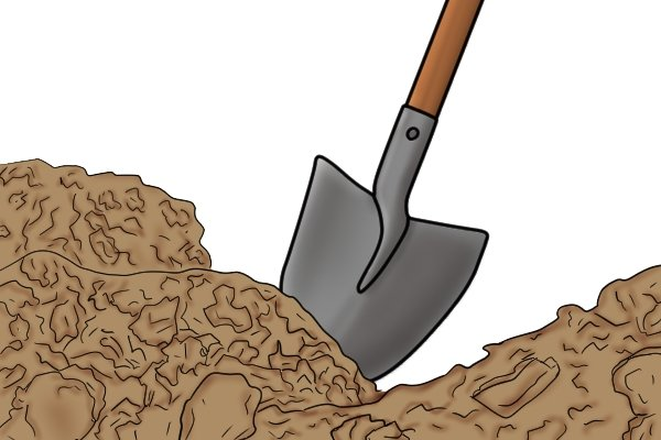 Digging is the most effective if you dig straight down.