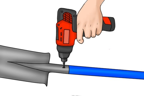 Use a drill to tighten the screw in place