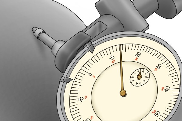 The needle on the dial gauge will oscillate when the probe passes over high and low points on the vice. Adjust the position of the vice until you get the same reading at both ends of the fixed jaw.