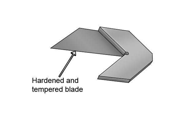 The blade of a centre square is hardened and tempered. This makes it resistant to abrasion. The sharpness of the blade helps the user to quickly locate the centre of a part.