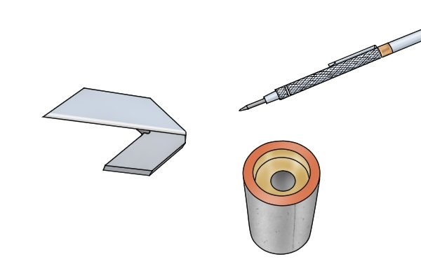 The length of the blade of a centre square is related to the capacity of the tool. The capacity of a centre square determines the maximum diameter an object can have if it is to be used with the tool.