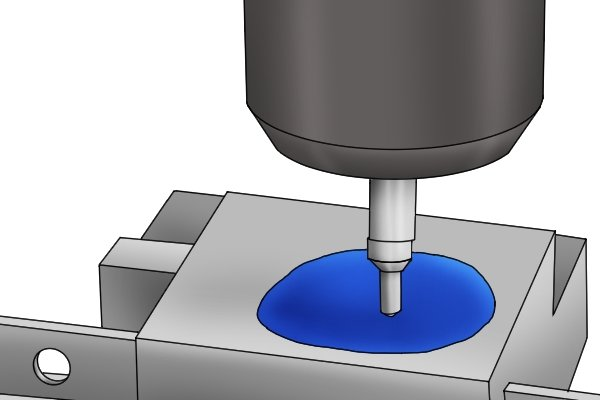 They can also be used to accurately indicate the location of a workpiece relative to the spindle of the machine they are used with. Features such as holes or grooves cannot be made on a part until the workpiece is positioned correctly underneath the spindle.