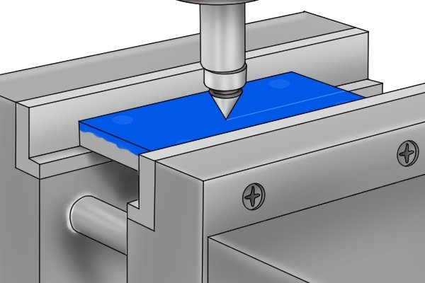 As the name suggests, centre finders are used when the centre of a part needs to be found. This is an important step in preparing to machine a hole or slot in the part using a drill press or milling machine.