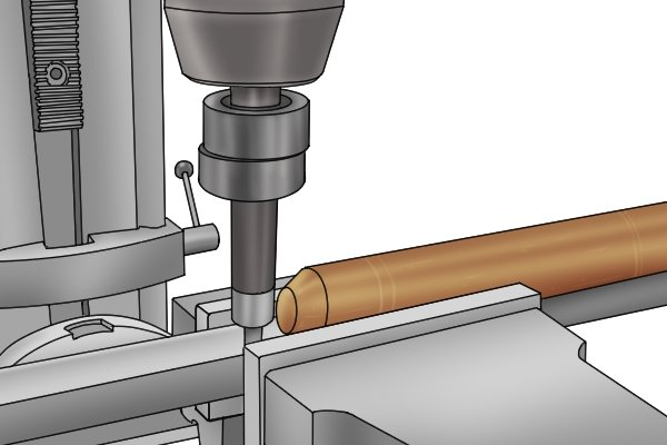 Single end edge finders are most commonly used with parts that have straight edges or straight-edged grooves or slots.