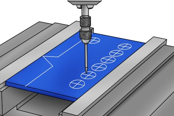 This means that the the tool can also be used to locate centre punch marks or holes in a part relative to the spindle of the machine.