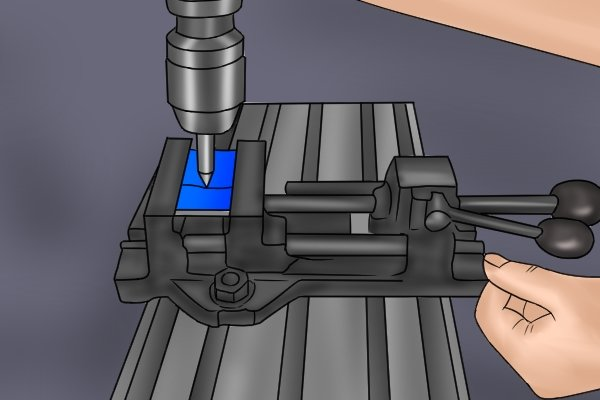 Step 4 To correct this, gradually move the bed of the machine until the centre finder becomes aligned. When this happens, you will no longer be able to recognise a discrepancy between the end and the shank.