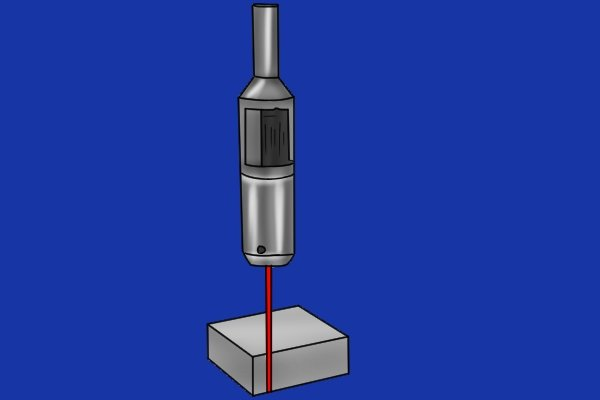 The user moves the beam to the edge of the work and then sets one of the axes on the DRO to zero. It is not necessary to half the diameter of the edge finder to find the true edge of a part.