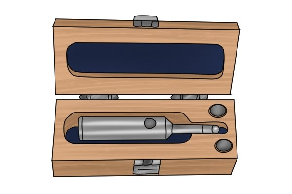 Edge finders should be stored in a ventilated place with low humidity. Most are supplied with a protective storage case to keep them safe when not in use.