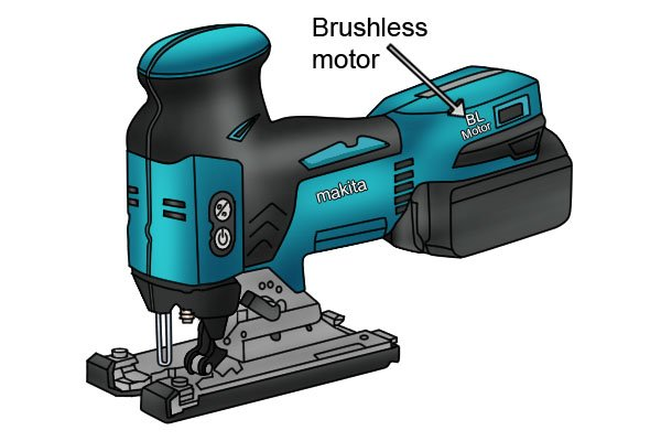 Jigsaw with brushless motor