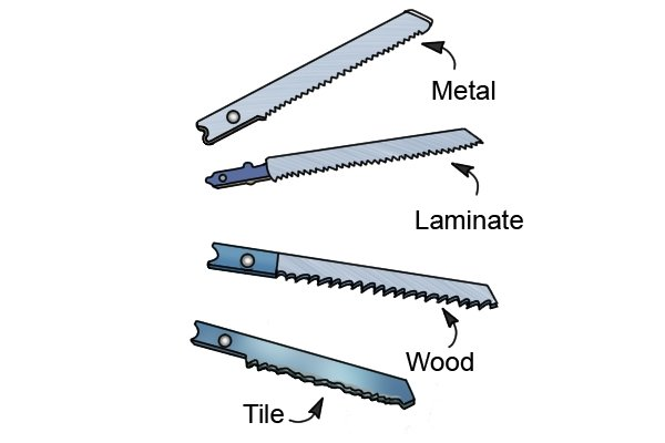 Jigsaw blades for wood, metal, tile and laminates