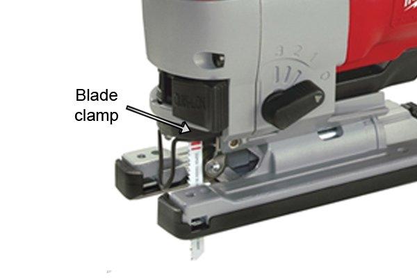 Jigsaw blade clamp, blade holder