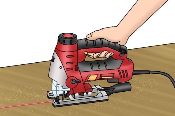 Jigsaw laser cutting guide