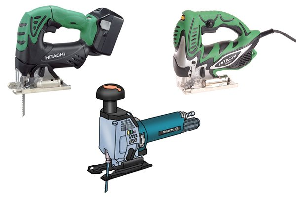 Types of jigsaw: corded, cordless, pneumatic