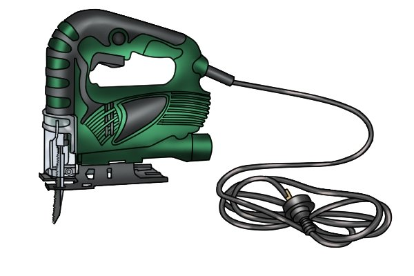 Corded jigsaw with power lead