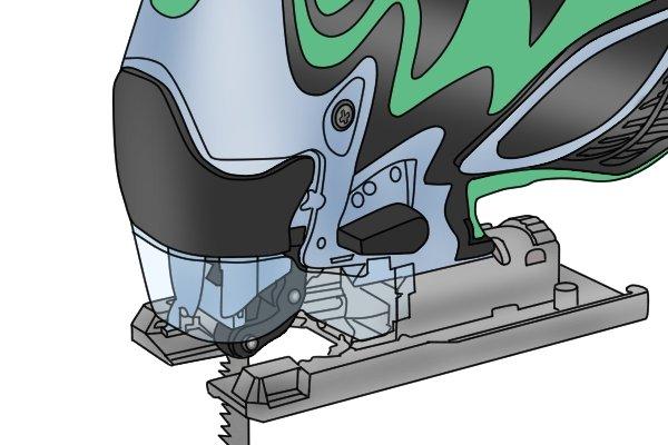 Aluminium shoe of jigsaw