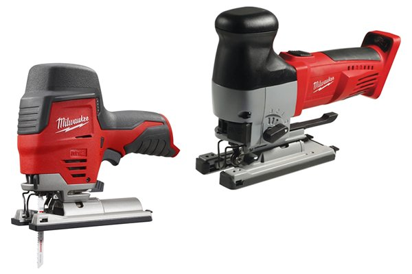 Compact cordless jigsaw and standard cordless jigsaw