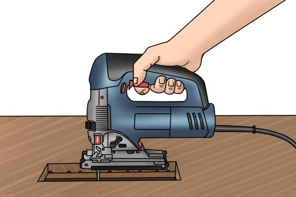 Holding top handle jigsaw