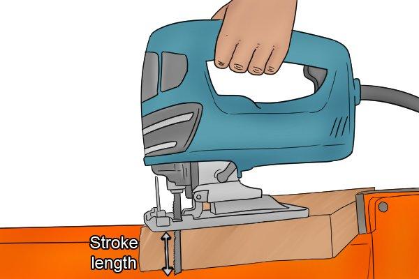 Jigsaw stroke length