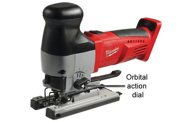 Jigsaw orbital action dial