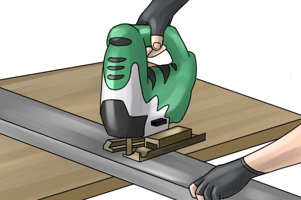 Cutting metal with corded jigsaw