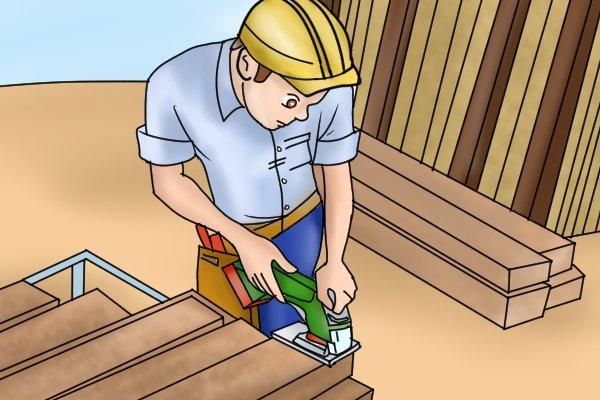Using cordless jigsaw for heavy-duty cutting task
