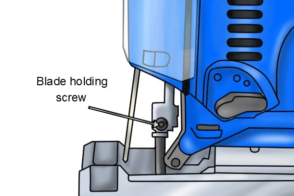 How to change the blade of a jigsaw jigsaw blade holding screw greentooth Choice Image