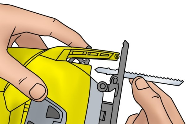 How to change the blade of a jigsaw removing jigsaw blade greentooth Images