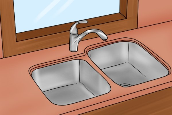 Kitchen sink, window in kitchen, kitchen