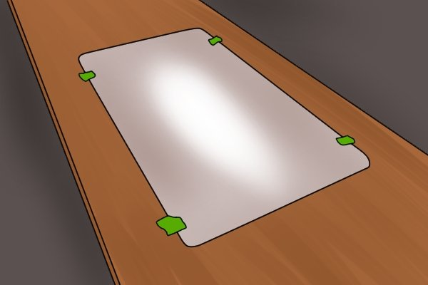 Template for making sink cut out, mark cutting line on countertop, sink template