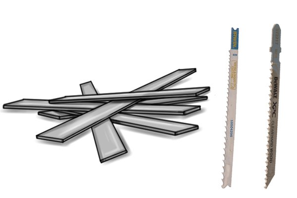 Jigsaw blades for metal - bi-metal blade and high speed steel blade