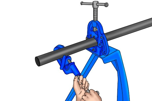 Due to the high amount of stress and torque (twisting force) applied to a pipe vice during use, most of its components are made out of high-strength materials such as cast-iron and hardened tool steel.