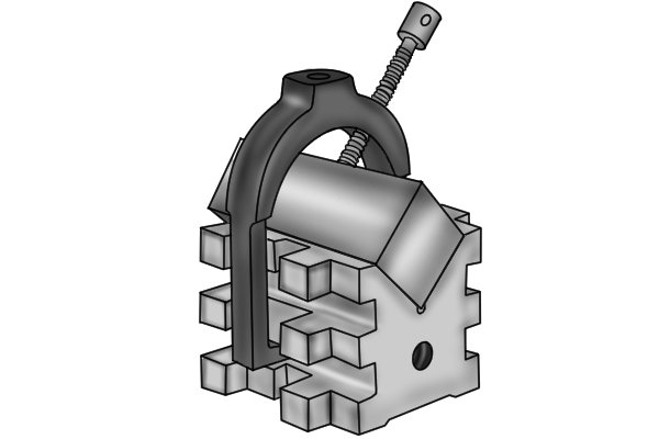 Sometimes, you may need to secure a rectangular part at an angle underneath your machine. Although they are primarily used to hold cylindrical parts, vee blocks can also support rectangular or square stock.