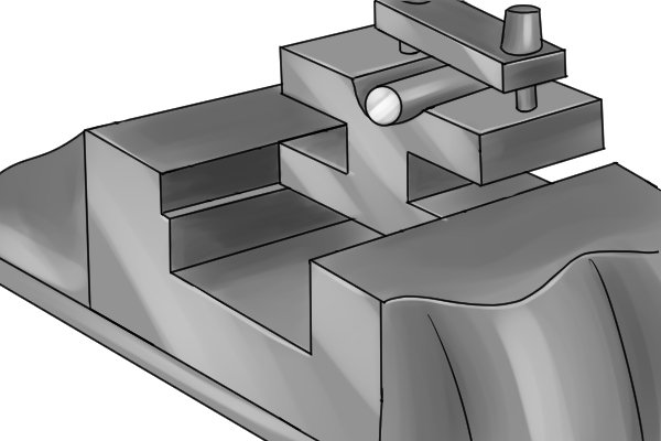 The vee block is then secured in the vice of the milling machine or drill press or installed onto the t-slots of the machine.