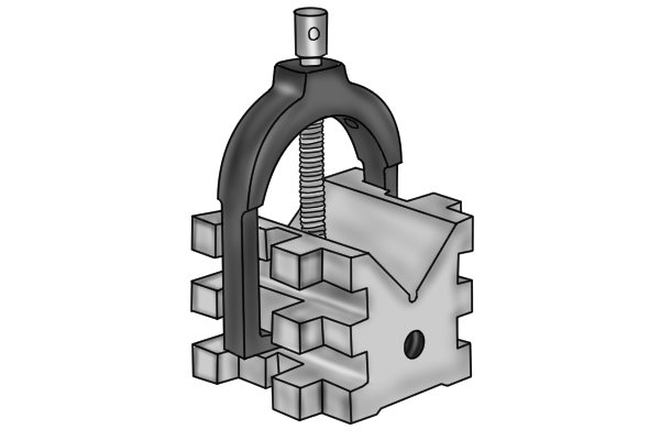 Most vee blocks are made out of hardened tool steel because of its excellent wear resistance and toughness.