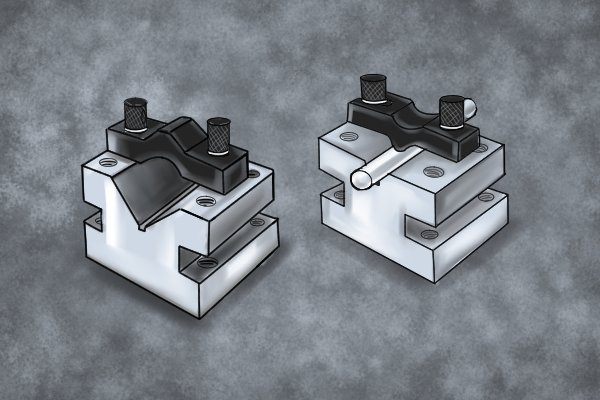 Micro vee blocks are used to support very small cylindrical stock.