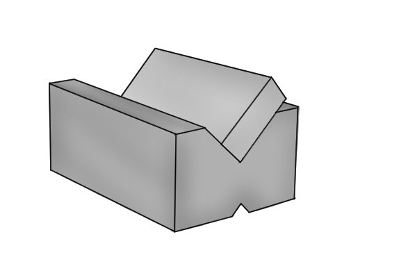 Magnetic vee blocks can be used to hold rectangular parts at a 45⁰ angle so that edges can be machined.