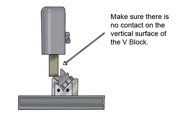 If you notice that your vee block is inaccurate, you will need to regrind the faces of the vee channel until they are smooth. This will improve the accuracy of the tool.