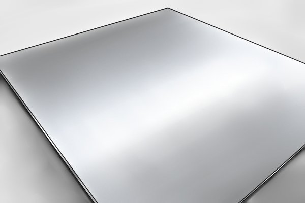 sheet of aluminium (feather edges made from)