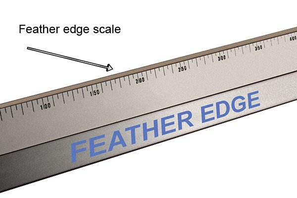 feather edge with scale